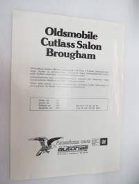 Oldsmobile Cutlass Salon Brougham Sedan -myyntiesite / brochure