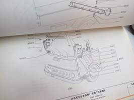 Fiat 50 NC Promiscuo Bodywork Spare Parts Catalogue - Catalogue parti di ricambio Carrozzeria - Catalogue de pièces détachées carrosserie - Ersatzteilkatalog
