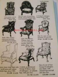 Antiques and their values. Furniture