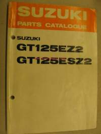 Suzuki GT125EZ2 GT125ESZ2 parts catalogue varaosaluettelo