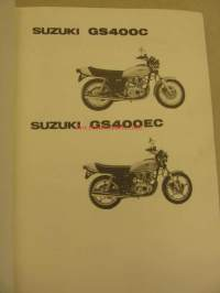 Suzuki GS400C GS400EC parts catalogue varaosaluettelo