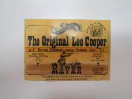 The Original Lee Cooper -tarra / sticker
