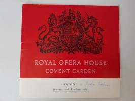 Royal Opera House Covent Garden, Ondine 1964
