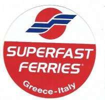 Superfast ferries Greece- Italy   tarra 10 cm