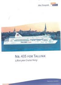 Cruise  Ferry for Tallink Nb 435   4 sivua  laivaesite