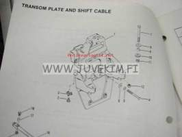 "Quicksilver parts catalog -""Bravo I / II"" Stern drive and transom assembly serial numbers Stern drive B-664190 and up, Transom assembly B-673048 and u"