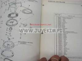 Johnson 50 hp models V4-V4L-11 & 11B outboards 1959 parts catalog -varaosaluettelo