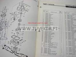 Johnson 50 hp models V4S - V4SL - 10 & 10H outboards 1958 parts catalog -varaosaluettelo