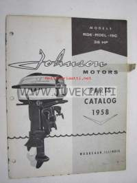 Johnson 35 hp models RDE - RDEL - 19C outboards 1958 parts catalog -varaosaluettelo