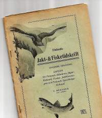 Finlands Jakt- & Fisketidskrift  1925  nr 4