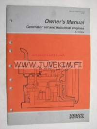 Volvo Penta 6-16 litre Generator set and Industrial engines owner´s manual -käyttöohjekirja