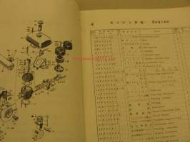 Mitsubishi minirotor CT 311-2 parts catalogue varaosaluettelo