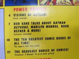 Comics scene Spectacular July 1992, Batman etc, poster included!