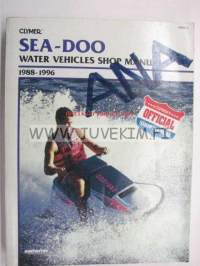 Sea-Doo water vehicles shop manual 1988-1996