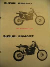 Suzuki RM465X RM465Z parts catalogue varaosaluettelo