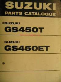 Suzuki GS450T GS450ET parts catalogue varaosaluettelo