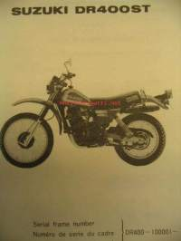 Suzuki DR400ST parts catalogue varaosaluettelo