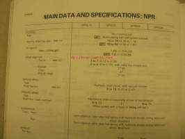 Isuzu NHR NKR NPR  1985 owner´s and driver´s manual