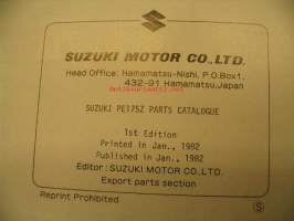 Suzuki PE 175Z parts catalogue varaosaluettelo