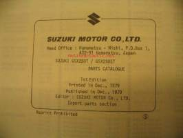 Suzuki GS250T GSX250ET parts catalogue varaosaluettelo