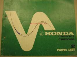 Honda CR250M1 CR250M2 Parts List varaosaluettelo