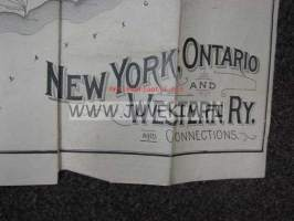 New York, Ontario and Western Railway and connections -kartta