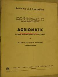 McCormick International Agriomatic 8-Gang Schleppergetriebe 715 173 R92