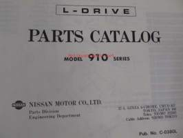 Nissan model 910 series L-Drive Dec. 1984 issue Parts Catalog -varaosaluettelo