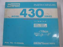 Nissan model 430 series L-Drive Dec. 1984 issue Parts Catalog -varaosaluettelo