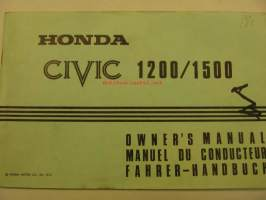 Honda Civic 1200/1500 Owner´s manual