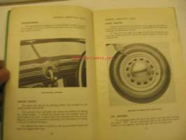 Hillman Minx Instruction book from chassis nr 1100500