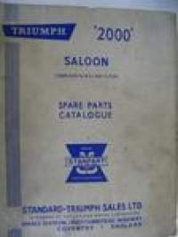 Triumph 2000 Saloon Spare parts catalogue varaosaluettelo