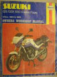 Suzuki GS GSX 550 4-valve Fours 572cc 1983-85 owner´s workshop manual Haynes