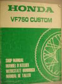 Honda VF750 Custom Shop manual supplement  lisäosa