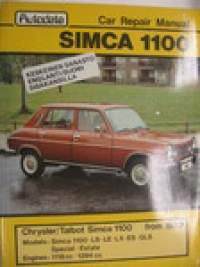 Simca 1100 Car repair manual huolto-ohjekirja