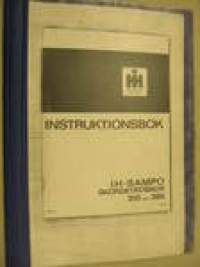 International-Sampo 310 360 Skördetröska Instruktionsbok