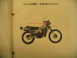 Suzuki TS125ERZ parts catalogue varaosaluettelo