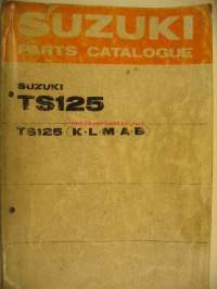 Suzuki TS125 TS125KLMAB parts catalogue varaosaluettelo