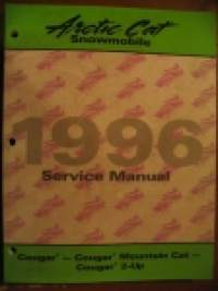 Arctic Cat 1996 Cougar - Cougar Mountain Cat - Cougar 2-Up snowmobile Service Manual korjaamokäsikirja