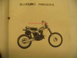 Suzuki RM125X parts catalogue varaosaluettelo