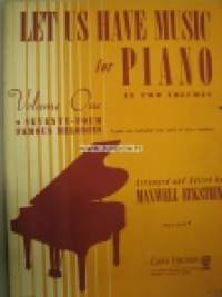 Let us have music for piano - volume one -pianosovituksia