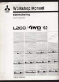 Mitsubishi  L 200 / 4 WD L 200 - Workshop Manual ,Electrical wiring supplement