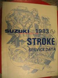 Suzuki Motor Cycles 1983 (2/2) 4-stroke service data
