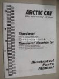 Arctic Cat Thundercat, Thundercat Mountain Cat Illustrated part manual -varaosaluettelo