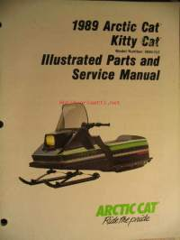 Arctic Cat Kitty Cat (model nr 0650-056) Illustrated parts and service manual moottorikelkka korjaamokäsikirja ja varaosaluettelo
