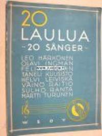 20 laulua 20 sånger -songs with notes