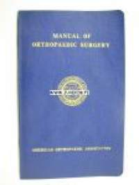 Manual of orthopaedic surgery