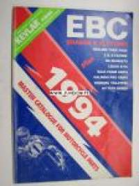 EBC brakes and clutches 1994 master catalogue for motorcycle parts -varaosaluettelo