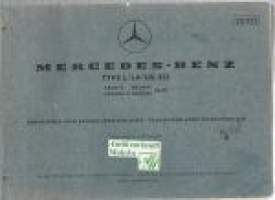 Mercedes-Benz  type L/LA/LG 312  Chassis and body spare parts list  1961