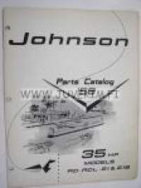 Johnson 35 hp models RD - RDL - 21 & 21B outboards 1959 parts catalog -varaosaluettelo